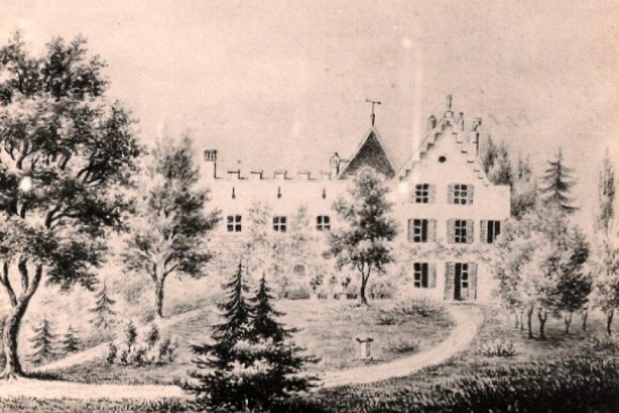 Les jardins et la façade Sud au XVIIIe